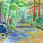 大雄山最乗寺の参道:神奈川北西部にある最乗寺です。この寺には天狗の伝説があります。参道に沿って巨大な杉の木が生えており、確かに天狗が飛び回っていてもおかしくありません。