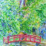 洒水の滝:神奈川の北西部にある洒水(しゃすい)の滝です。真夏に描きましたが、ここは涼しかったですね。