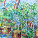 Hさんの庭:鹿島のHさんの庭にお邪魔させて頂きました。ここは敷地が広く、よく手入れされています。