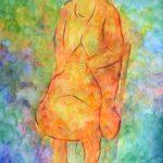 ひかり:あまりモデルを見ずに描きました。「セツハル」という展覧会に出した絵です。