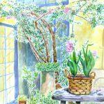 セツの庭:セツハルという展覧会のライブペイントで描いた絵です。することはいつも通りでしたが…。