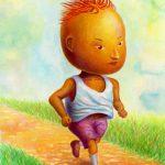 走る男の子:走るのが好き。