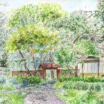 野島公園:横浜にある野島公園で描きました。ここには伊藤博文が住んでいたという別邸があります。