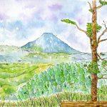 高松山:丹沢の山です。綺麗に富士山が見えました。ぽつぽつと雨が降っていましたね。
