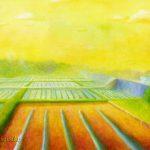 田園:境川サイクリングコースで見た風景です。アニメ「ろんぐらいだぁす!」に出てきましたね。