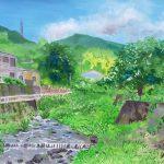 梅雨の晴れ間に:小田原市根府川(ねぶかわ)にある白糸川で描きました。