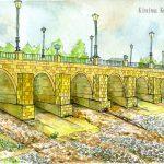 サント・ドミンゴ:スペインの巡礼路で。正式にはサント・ドミンゴ・デ・ラ・カルサーダ。この橋は三代目なのだとか。