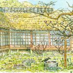 浄智寺の書院:北鎌倉の浄智寺で。カラスが来て水を飲んでいました。