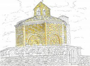 エウナテの教会のスケッチ