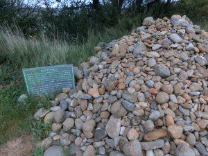 たくさんの石が積まれていた