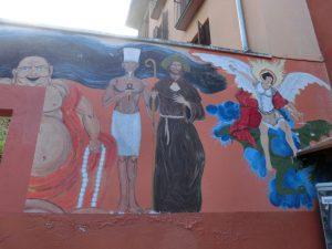 アルベルゲの壁画