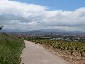 遠くに見えるのがログローニョの街
