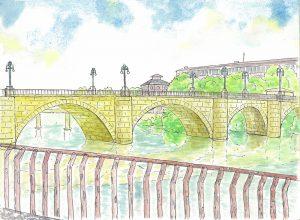 ピエドラ橋のスケッチ