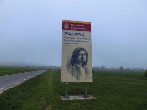 アタプエルカ原人の看板