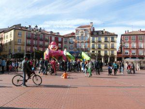 広場ではイベントが行われていた