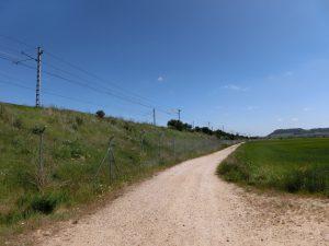 レンフェが通る線路の架線