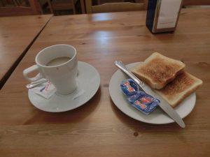 朝食はこれだけ…