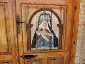 教会の扉に描かれていた絵