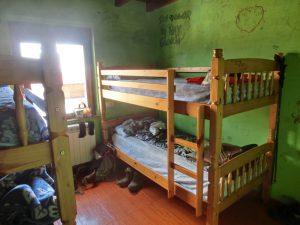 二段ベッドの寝室