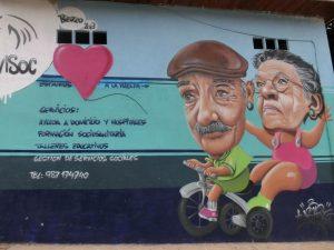 老夫婦の怪しい壁画
