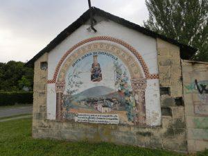 マリアが描かれた壁画