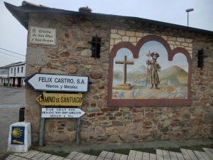 聖ヤコブが描かれた壁画