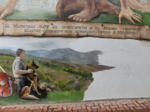 壁画の未完成部分