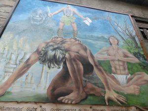巨大な壁画