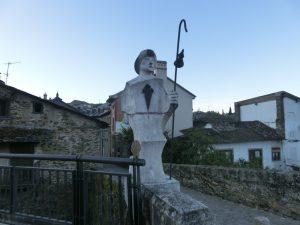 石で作られた巡礼者像