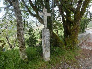巡礼路の横にあった十字架