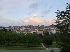 サンティアゴの街を望む