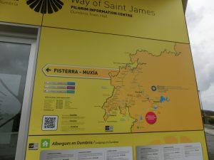 ムシアとフィステーラまでの地図