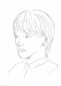顔デッサン(1)