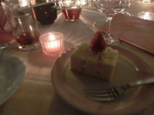 ケーキとキャンドル