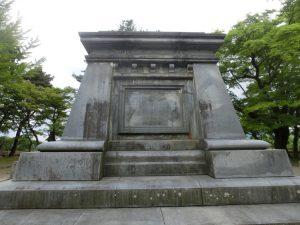 南部中尉の銅像の台座