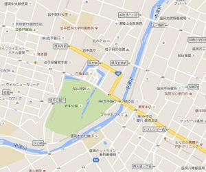 中津川流域の地図