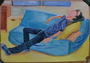 今回描いた人物水彩の絵