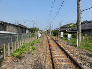 一直線の線路