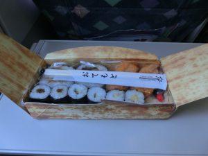 昼食のお寿司