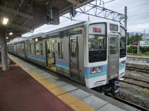 大糸線の電車(折り返し松本行き)