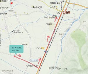 白馬周辺の地図(1)