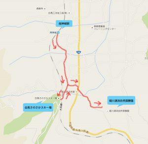 南神城駅から姫川源流まで