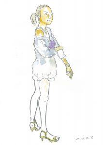 ミニスカートのモデルさん