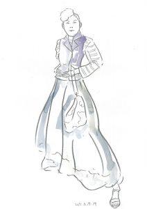 ロングスカートのモデルさん