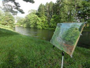 作品を描いた場所