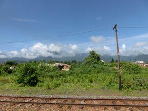 山部駅からの眺め