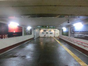 釧路駅の地下道