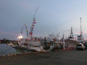 釧路港の船