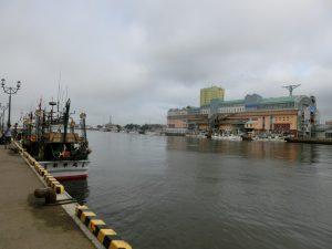 釧路港の岸壁