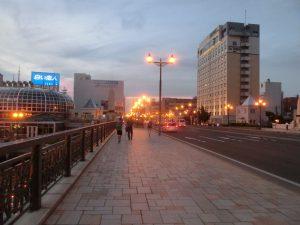 夕方の幣舞橋
